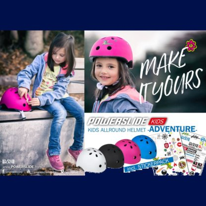 SKA906025 POWERSLIDE Allround Adventure Blau Kinder Skatehelm SkaMiDan