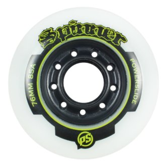 SKA905195 84 POWERSLIDE Spinner Wheels 84mm/85A White SkaMiDan Skateshop Weil am Rhein