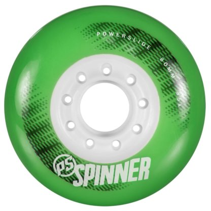 SKA905283 Green POWERSLIDE Spinner Wheels 80mm/85A Green 4-Pack SkaMiDan Skateshop Weil am Rhein