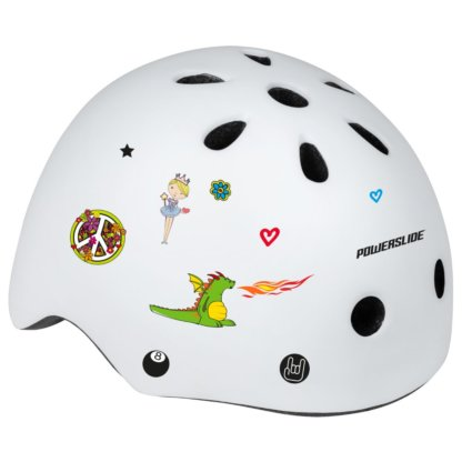 SKA906022 POWERSLIDE Allround Adventure White Kinder Skatehelm SkaMiDan