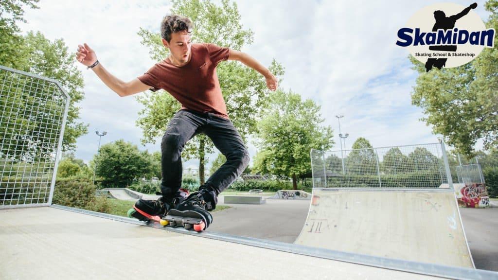 Daniel Lott vom Team SkaMiDan Skateschule und Skateshop SkaMiDan Weil am Rhein Basel Lörrach Freiburg und Region Skateschule Inliner Skates Rollschuhe