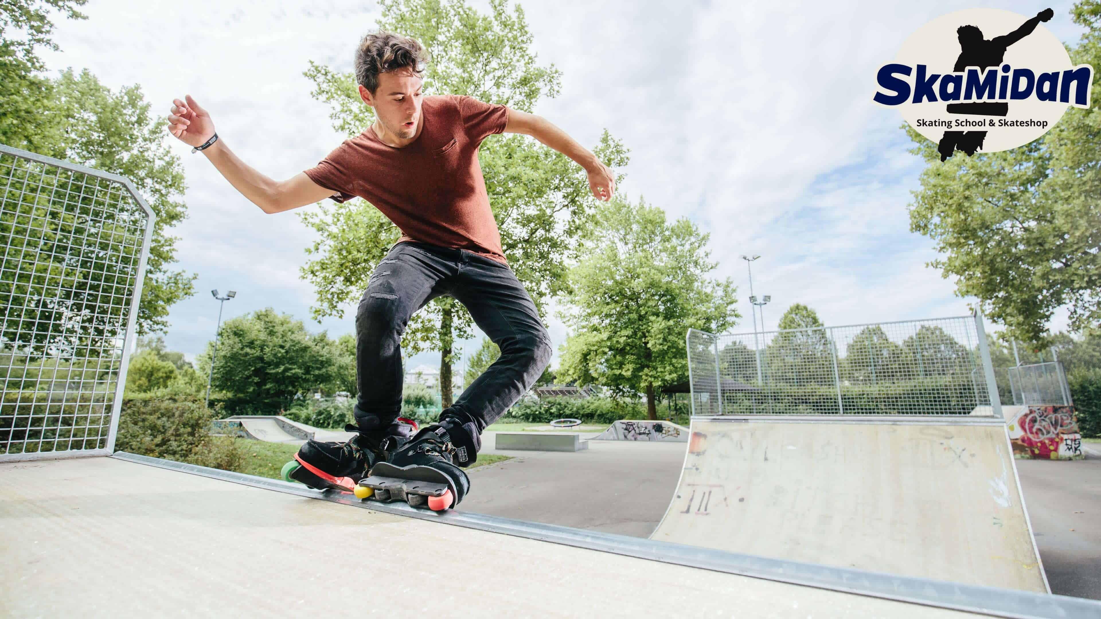 Skateschule SkaMiDan Weil am Rhein Basel Lörrach und Region Inline Skating Disziplinen Aggressive Inline Skating