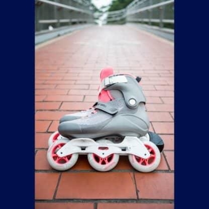 SKA510036 POWERSLIDE Swell Lite Trinity 90 Grey Pink Inliner Skateschule und Skateshop Weil am Rhein SkaMiDan