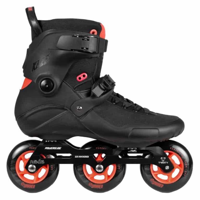 SKA908267 POWERSLIDE Kaze 90 Black Red Inline rollerblading skate school and skate shop Weil am Rhein SkaMiDan