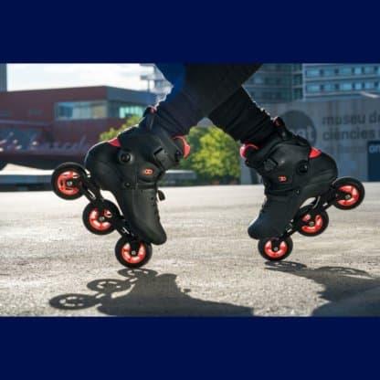 SKA908267 POWERSLIDE Kaze 90 Black Red Inliner Skateschule und Skateshop Weil am Rhein SkaMiDan
