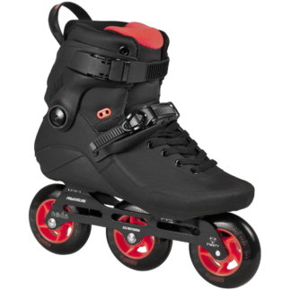 SKA908267 POWERSLIDE Kaze 90 Black Red Freestyle Inline Skates Rollerblading inline skate shop and skating school Weil am Rhein SkaMiDan