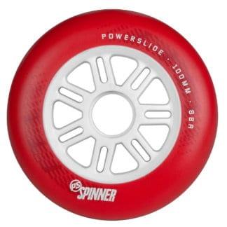 SKA905321 POWERSLIDE Spinner Wheels 100mm 88A Red 1-Stück Inliner Skateschule und Skateshop Weil am Rhein SkaMiDan