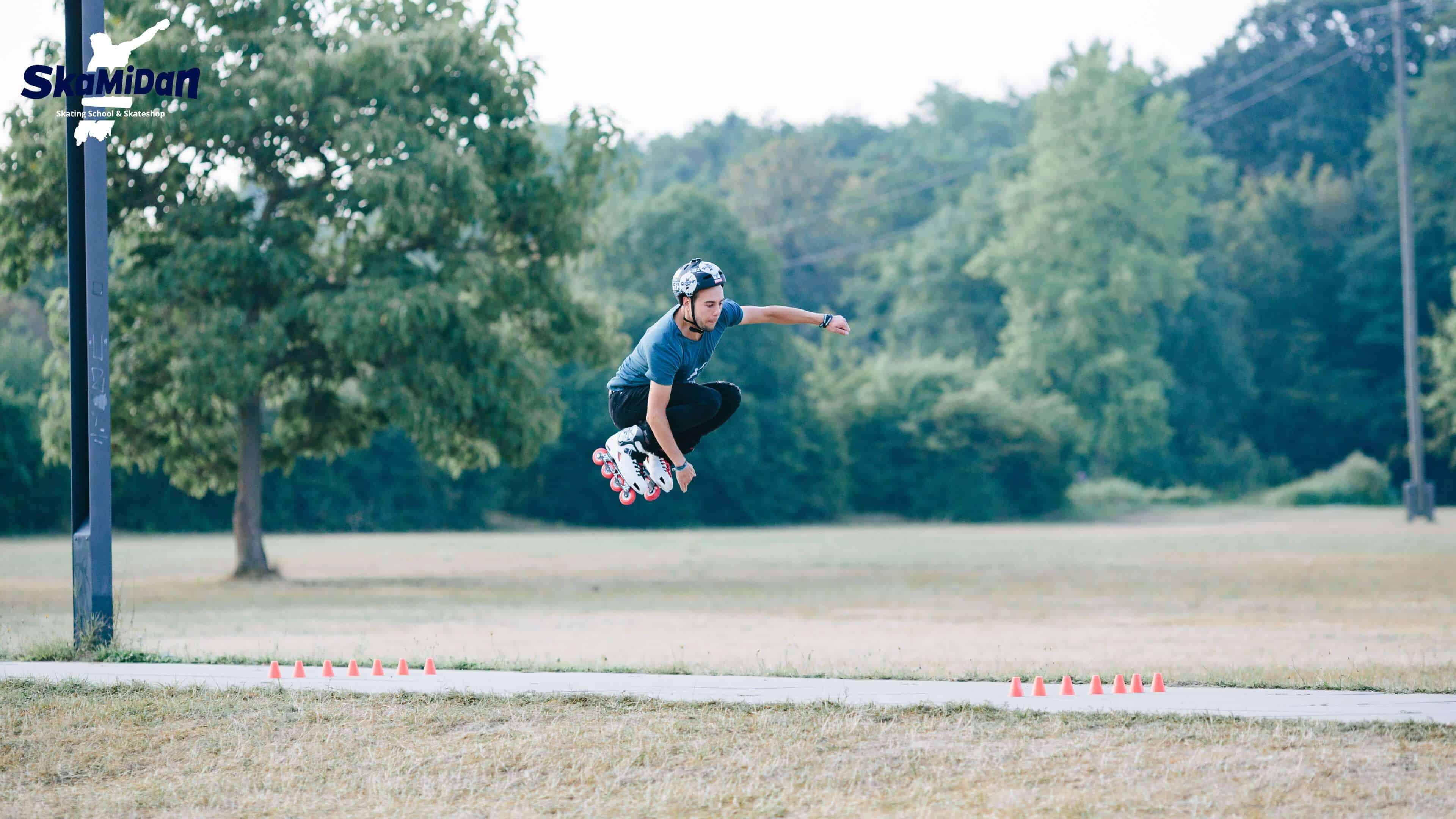SkaMiDan's Trickliste des Inline Skating weiter Sprung hoher Air