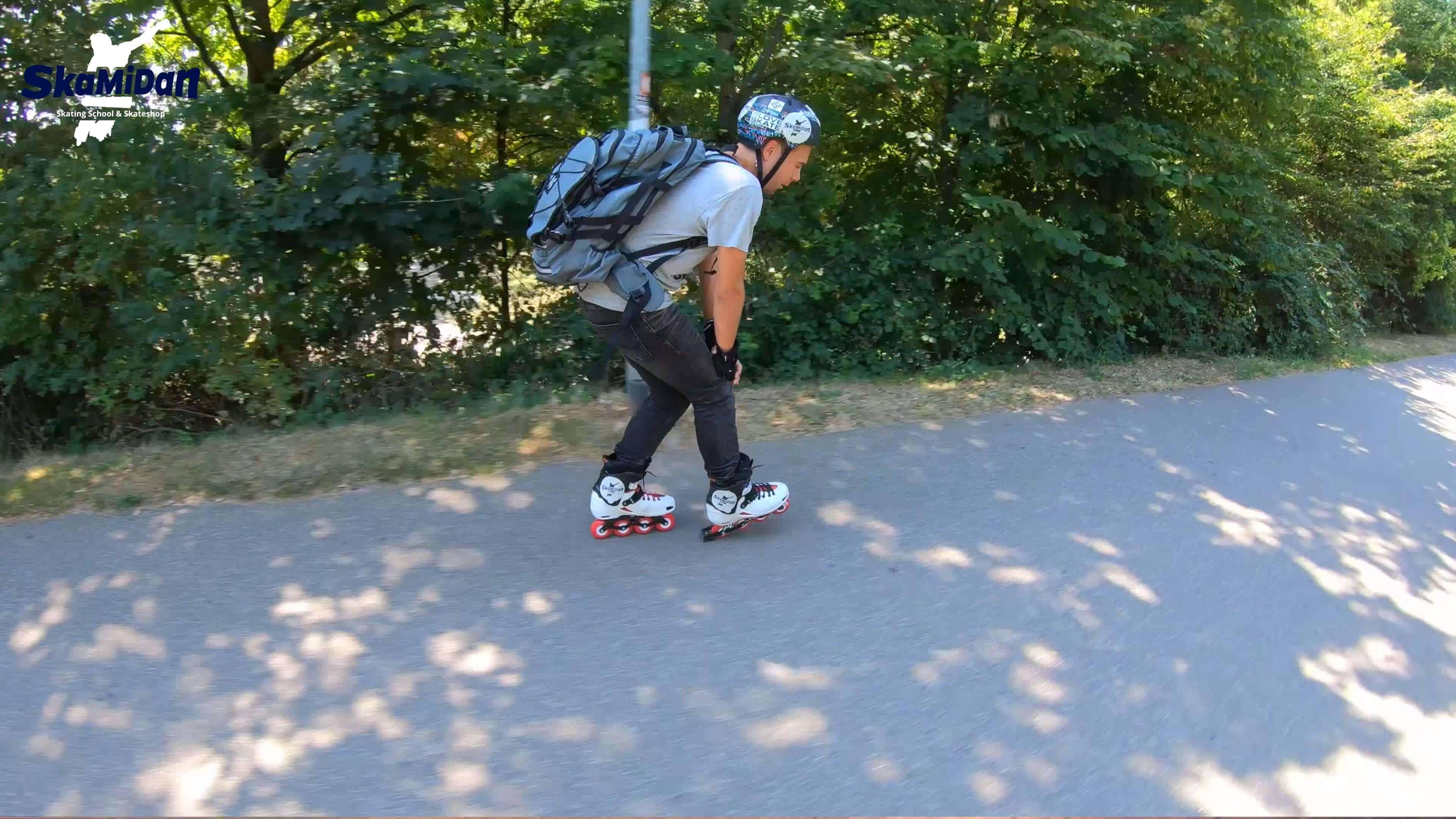 Inline Skating Bremsen lernen I Inliner Skateschule Weil am Rhein SkaMiDan