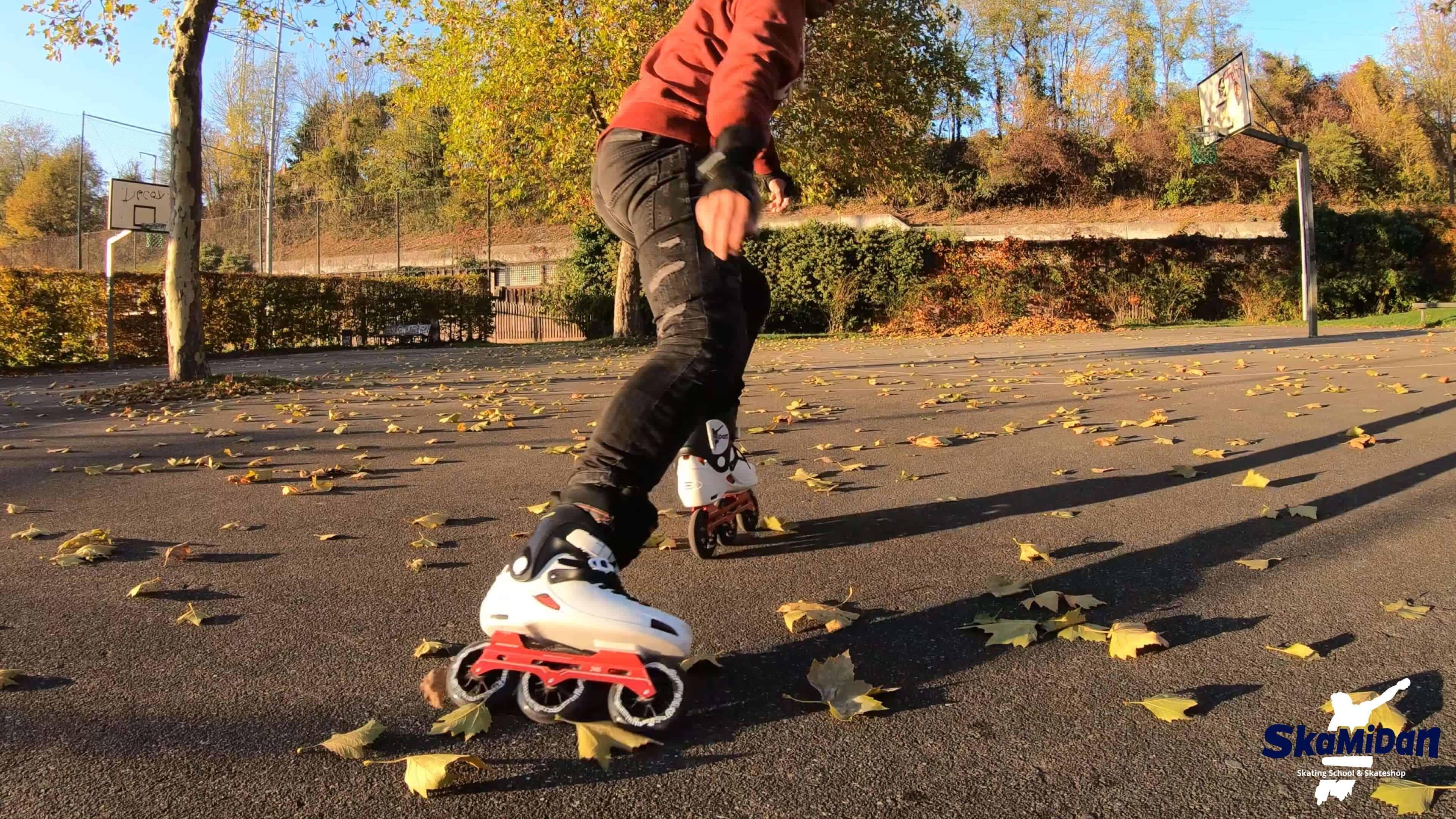 Inline Skating Bremsen lernen II Inliner Skateschule Weil am Rhein SkaMiDan