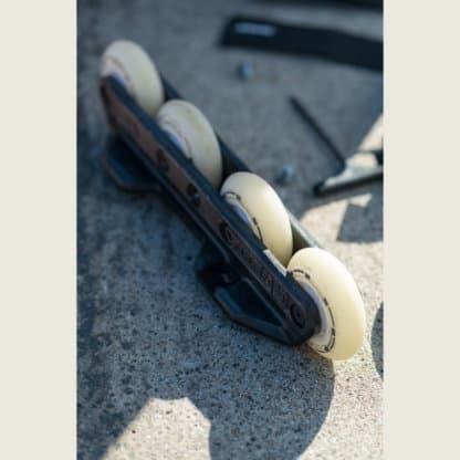 SKA800318 KIZER Flux Trinity White 2 in 1 Frame 4x90 3x100 273mm Inliner Skateschule und Skateshop Weil am Rhein SkaMiDan