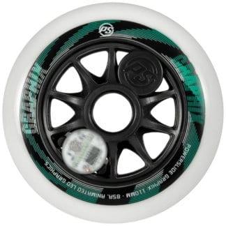 SKA905344 POWERSLIDE Graphix LED Weels White 110mm 86A Inliner Skateschule und Skateshop Weil am Rhein SkaMiDan