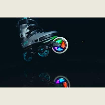 SKA905348 POWERSLIDE Graphix LED Weels Colorful 100mm 86A Inliner Skateschule und Skateshop Weil am Rhein SkaMiDan
