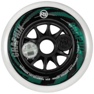 SKA905361 POWERSLIDE Graphix LED Weels White 125mm 86A Inliner Skateschule und Skateshop Weil am Rhein SkaMiDan