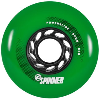 SKA905387 POWERSLIDE Spinner Wheels 80mm 88A Green (4-Pack) Inline Skating Freestyle Slalom Skating Inliner Skateschule und Skateshop Weil am Rhein SkaMiDan