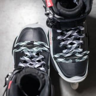 SKA908209 MYFIT Checker Laces Black & White 120cm - 170cm | Schnürsenkel Inline Skating Inliner Skate Schnürsenkel Rollerblades Laces Inliner Skateshop und Skateschule Weil am Rhein SkaMiDan