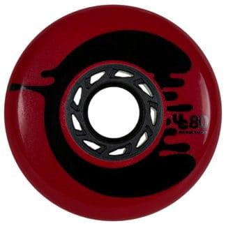 UNDERCOVER Cosmic Rosche 80mm 88A Red Urban inline wheels rollerblading Slalom Rollen Inline Slalom Rollen Urban Inline Rollen freestyle wheels slalom skating wheels Skateschule und Skateshop SkaMiDan Weil am Rhein