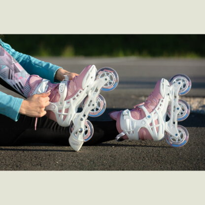 SKA940669 POWERSLIDE Phuzion Argon Rose 100 | Trinity X | Fitness Inlineskates Fitness Inline Skating Rollerblading Freizeitskates Freizeit Skating Inlinerfahren Inliner laufen Skating Rollerblades Inline Skateschule und Skateshop SkaMiDan Weil am Rhein Deutschland Germany