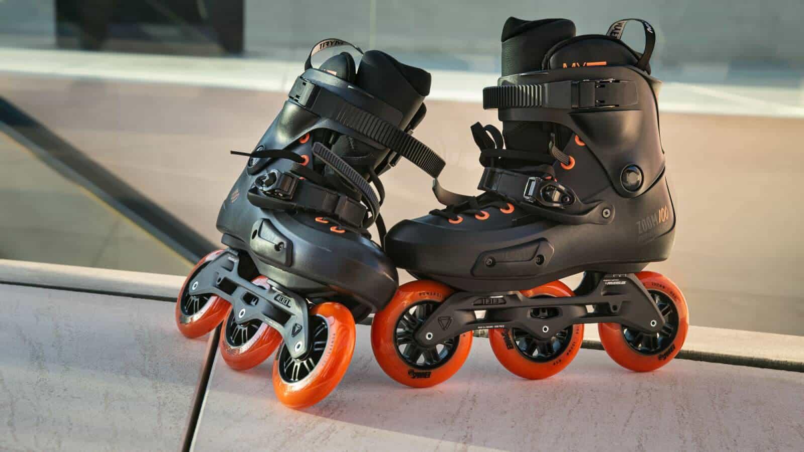POWERSLIDE Zoom Rental 100 Black Orange