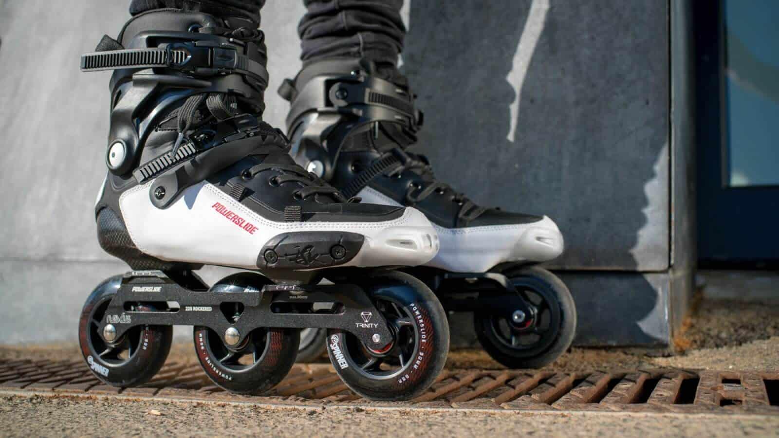 POWERSLIDE Tau 90 Black White Freestyle Skates